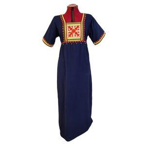 Vintage Neiman Marcus Bohemian Cotton Maxi Dress